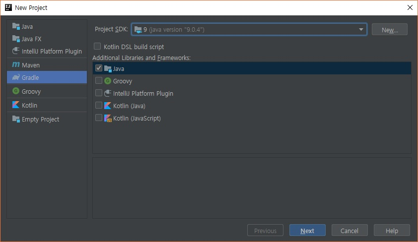 Intellij - Select Gradle Java