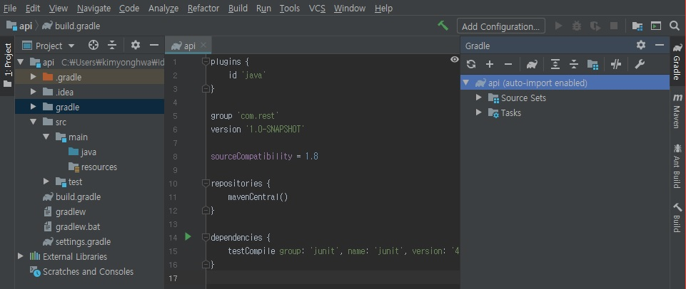 Intellij - Execute gradle